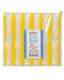 "Premium Manicure Brush, Sunshine Yellow, Nail Scrub Brushes for All Manicure Services, 5.5"" L, 12-Count"
