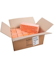 """ForPro Orange Buffing Block, 100/180 Grit, Three-Sided Manicure and Pedicure Nail Buffer, 3.75"""" L x 1.25"""" W x 1"""" H, 500-Count"""