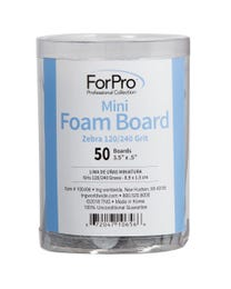 ForPro Zebra Mini Foam Boards 120/240 grit 50-pk.