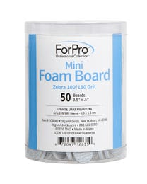 "ForPro Zebra Mini Foam Boards, 100/180 Grit, Double-Sided Manicure Nail File, 3.5"" L x .5"" W, 50-Count"