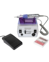 BRAVO Professional Nail Drill Kit, Purple, Electric Portable Nail E-File Drill for Artificial and Natural Nails, LED Battery, Powerful, Ultra-Quiet Motor, Auto Shutoff