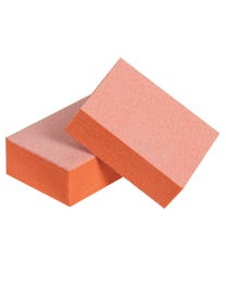 """ForPro Basics Orange/White Mini Block Buffer, 100/180 Grit, Double-Sided Disposable Manicure and Pedicure Buffer, 1"""" W x 1.4"""" L, 1500-Count"""