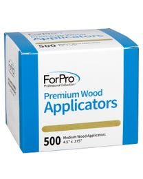 "ForPro Premium Wood Applicators, Non-Sterile, for Hair Removal Waxing, Medium, 4.5"" L x .375"" W, 500-Count"