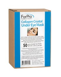 ForPro Collagen Crystal Under Eye Mask, Hydrating, Anti-Aging, Dark Circle Reducing Eye Mask, 50-Count