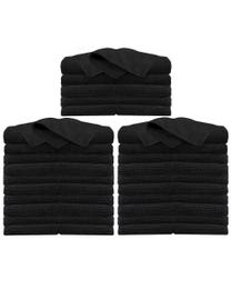 Cozy Cloths Microfiber Towels Black 50-ct.