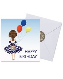 Ginger Lily Farms Botanicals Kudos! Birthday Balloon Girl, Spinning Bath Bomb and Greeting Card