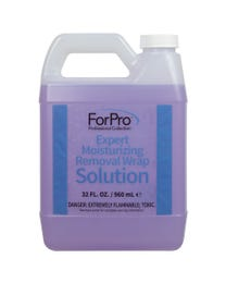 ForPro Expert Moisturizing Removal Wrap Solution, Removes All Gel Polish and Acrylic Residue, 32 Ounces