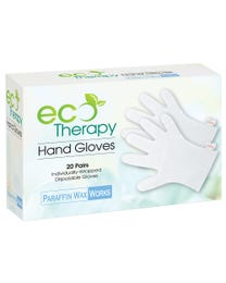 Paraffin Wax Works EcoTherapy Hand Gloves, Paraffin Bath Wax Mitt Liners Heat Therapy Treatment Gloves, 20-Pairs