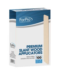 "ForPro Premium Slant Wood Applicators, Non-Sterile, for Hair Removal Waxing, 5.6"" L x .75"" W, 100-Count"