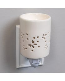 "Butterfly Flutter Ceramic Plug-In Wax Melter & Essential Oil Diffuser, Easy-Clean, 3"" Round x 5.5"" H"