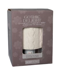 "Scentworks Gothic Delight Ceramic LED Plug-In Wax Melter & Essential Oil Diffuser, Easy-Clean, 3"" Round x 5.5"" H"