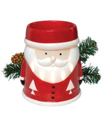 """Santa's Coming to Town Ceramic Halogen Wax Melter, Easy-Clean, 4.75"""" Round x 5.75""""H"""