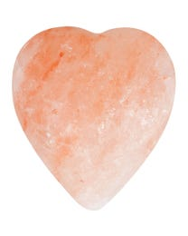 "Pure Himalayan Salt Works Heart Massage Stone, Pink Crystal Hand-Carved Stone for Massage Therapy, Deodorant and Salt and Sugar Scrubs, 2.75"" W x 3"" H x 1.5"" D"