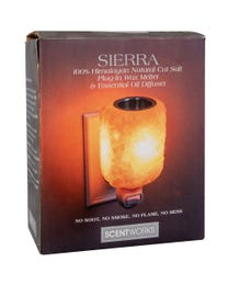 Sierra 100% Himalayan Natural Cut Salt Plug-In Wax Melter & Essential Oil Diffuser