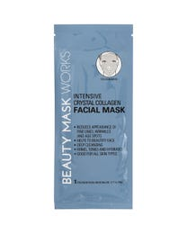 Beauty Mask Works Intensive Crystal Collagen Facial Mask, Reduces Appearance of Fine Lines, Wrinkles and Age Spots, for All Skin Types, 3-Count