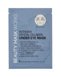 Beauty Mask Works Intensive Crystal Collagen Under Eye Mask, Reduces Appearance of Fine Lines, Wrinkles, Puffiness and Dark Circles, for All Skin Types, 5-Pair