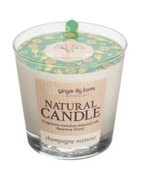 Ginger Lily Farms Botanicals Natural Candle Champagne Mimosa, All-Natural Beeswax Blend and Essential Oils, 6.3 Ounces