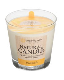 Ginger Lily Farms Botanicals Natural Candle Dreamsicle, All-Natural Beeswax Blend and Pure Essential Oils, 6.3 Ounces