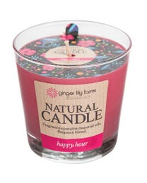Ginger Lily Farms Botanicals Natural Candle Happy Hour, All-Natural Beeswax Blend and Pure Essential Oils, 6.3 Ounces