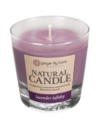 Ginger Lily Farms Botanicals Natural Candle Lavender Lullaby, All-Natural Beeswax Blend and Pure Essential Oils, 6.3 Ounces