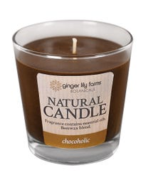 Ginger Lily Farms Botanicals Natural Candle Chocoholic, All-Natural Beeswax Blend and Pure Essential Oils, 6.3 Ounces