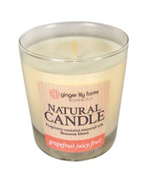 Ginger Lily Farms Botanicals Natural Candle Grapefruit Juicy Fruit, All-Natural Beeswax Blend 6.3 Ounces