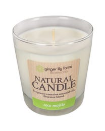 Ginger Lily Farms Botanicals Natural Candle Coco Mojito, All-Natural Beeswax Blend and Pure Essential Oils, 6.3 Ounces