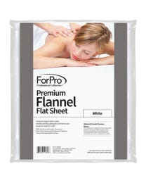 "ForPro Premium Flannel Flat Sheet, White, Stain and Wrinkle-Resistant, for Massage Tables, 63"" W x 100"" L"