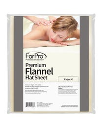 "ForPro Premium Flannel Flat Sheet, Natural, Stain and Wrinkle-Resistant, for Massage Tables, 63"" W x 100"" L"