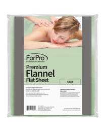 "Premium Flannel Massage Flat Sheet, Sage, Stain and Wrinkle-Resistant, for Massage Tables, 63"" W x 100"" L"