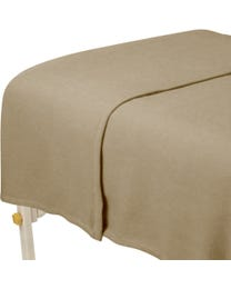 "ForPro Polar Fleece Blanket, Camel, Lightweight, Extra-Soft, for Massage Tables, Beds, and Sofas, 63"" W x 90"" L"