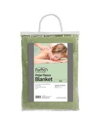 "ForPro Polar Fleece Blanket, Sage, Lightweight, Extra-Soft, for Massage Tables, Beds, and Sofas, 63"" W x 90"" L"