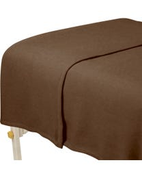 "ForPro Polar Fleece Blanket, Chocolate, Lightweight, Extra-Soft, for Massage Tables, Beds, and Sofas, 63"" W x 90"" L"