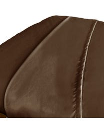 Premium Microfiber Massage Flat Sheet, Chocolate, Ultra-Light, Stain and Wrinkle-Resistant, for Massage Tables, 63
