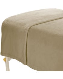 "ForPro Microfiber Plush Blanket, Natural, Lightweight, 100% Microfiber, for Massage Tables, Beds, Sofas, 60"" W x 90"" L"