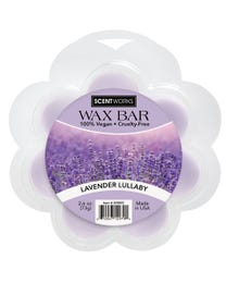 Lavender Lullaby Wax Bar, Wickless Candle Tart Warmer Wax, 100% Vegan and Cruelty-Free, 2.6 Ounce Bar