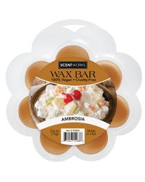 Ambrosia Wax Bar, Non-Smoking, Wickless Candle Tart Warmer Wax, 100% Vegan and Cruelty-Free, 2.6 Ounce Bar