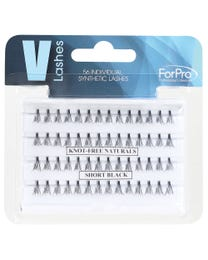 Knot-Free V-Lashes Individual Synthetic Black Short 56-ct.