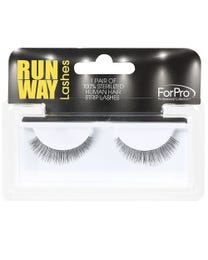 Runway Human Strip Lashes B24a Black 1-pr.
