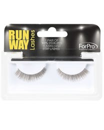 Runway Human Strip Lashes B24a Brown 1-pr.