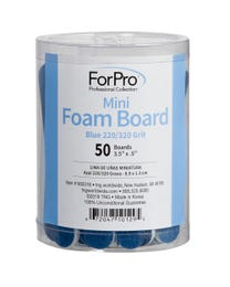 "ForPro Blue Mini Foam Board, 220/320 Grit, Double-Sided Manicure Nail File, 3.5"" L x .5"" W, 50-Count"