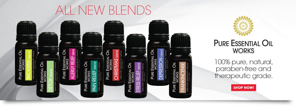 Pure Essential Oil Works. 100% pure, natural, paraben-free and therapeutic grade.